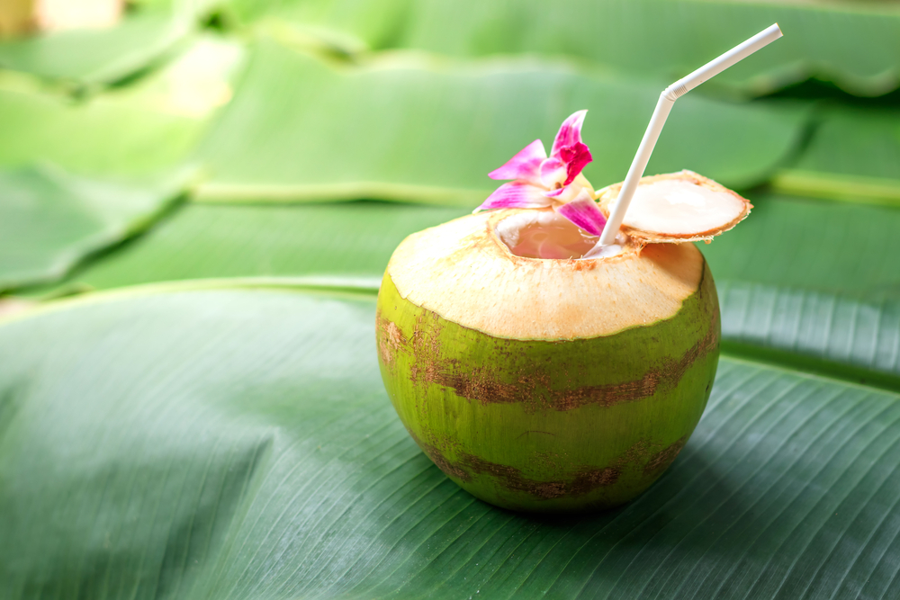 What is the best time to drink coconut water?